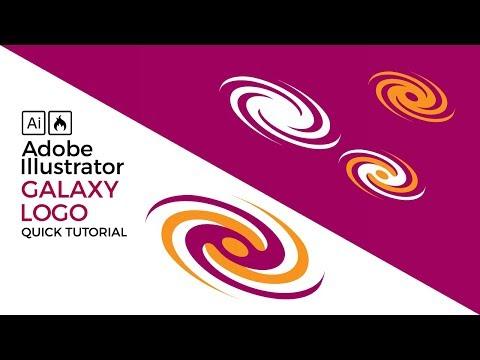 How to create a galaxy tornado logo Illustrator tutorial