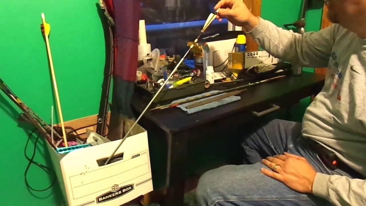 cut carbon arrow shafts at home EZ - YouTube