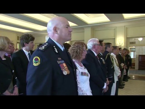 Afternoon Investiture: 2016 Autumn Investiture Ceremonies at Government House, Canberra