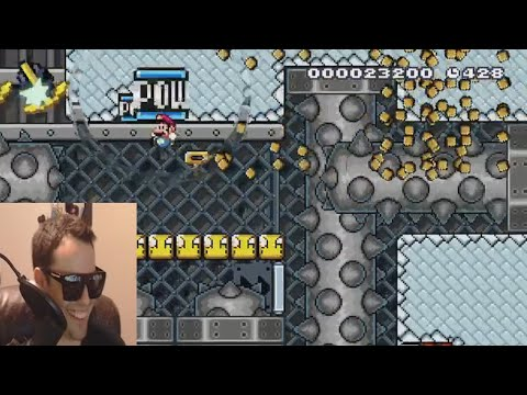 Mario Maker - Kaizo Boneyard Makes Carl Go