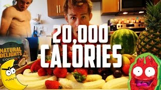 THE 20,000 CALORIE FRUIT AND VEGGIE CHALLENGE!