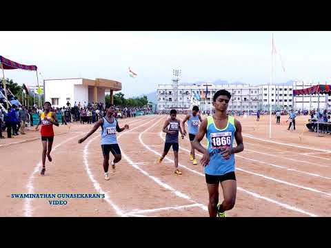 BOY'S U14  100m  RUN  FINAL. 60Th TAMIL NADU STATE REPUBLIC DAY SPORTS MEET  - 2017-18