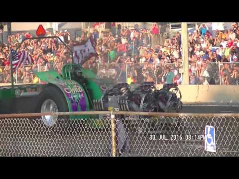 UNLIMITED MODIFIED TRACTORS NTPA FORT RECOVERY, OHIO PULL JULY 30, 2016