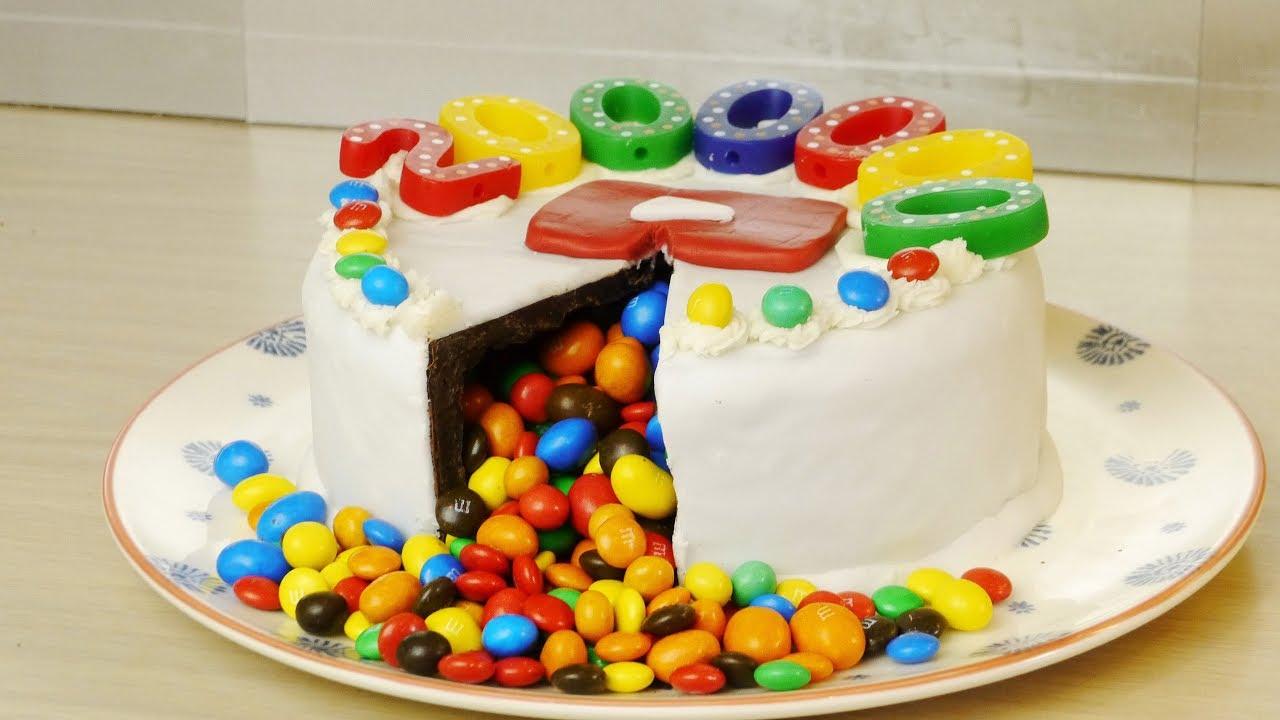 مفاجأة كيكة للأطفال Surprise Cake Youtube