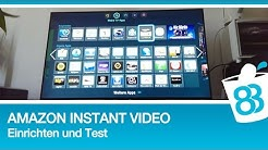 Amazon Instant Video am Samsung Smart TV einrichten und Test (Deutsch)