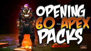 Are Apex Packs Worth It In Apex Legends? Secret HEIRLOOM Rarity! (Opening 60 Apex Packs!)
