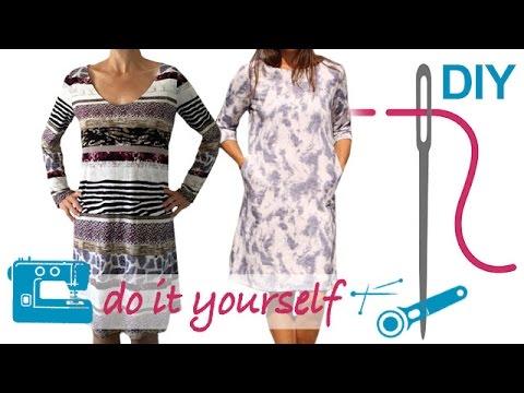 DIY Kleid nähen für Anfänger – Kleid mit nahtfeinem RV – Zierstoff ...