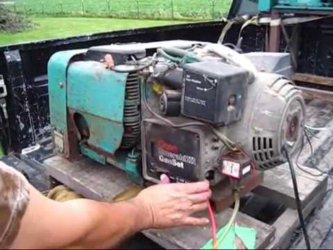 wiring diagram onan genset 1996 ford f 250 6500 watt emerald iii 120 240 volt generator low hrs old see what you missed youtube