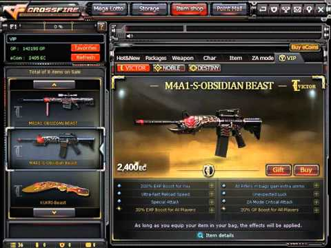 CrossfirePH Buying M4A1 Obsidian Beast [VIP]   JUAANNPRO