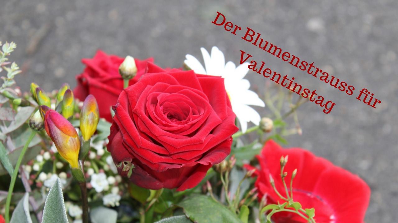Der Blumenstrauss Für Valentinstag Eine Idee Vom Floristen