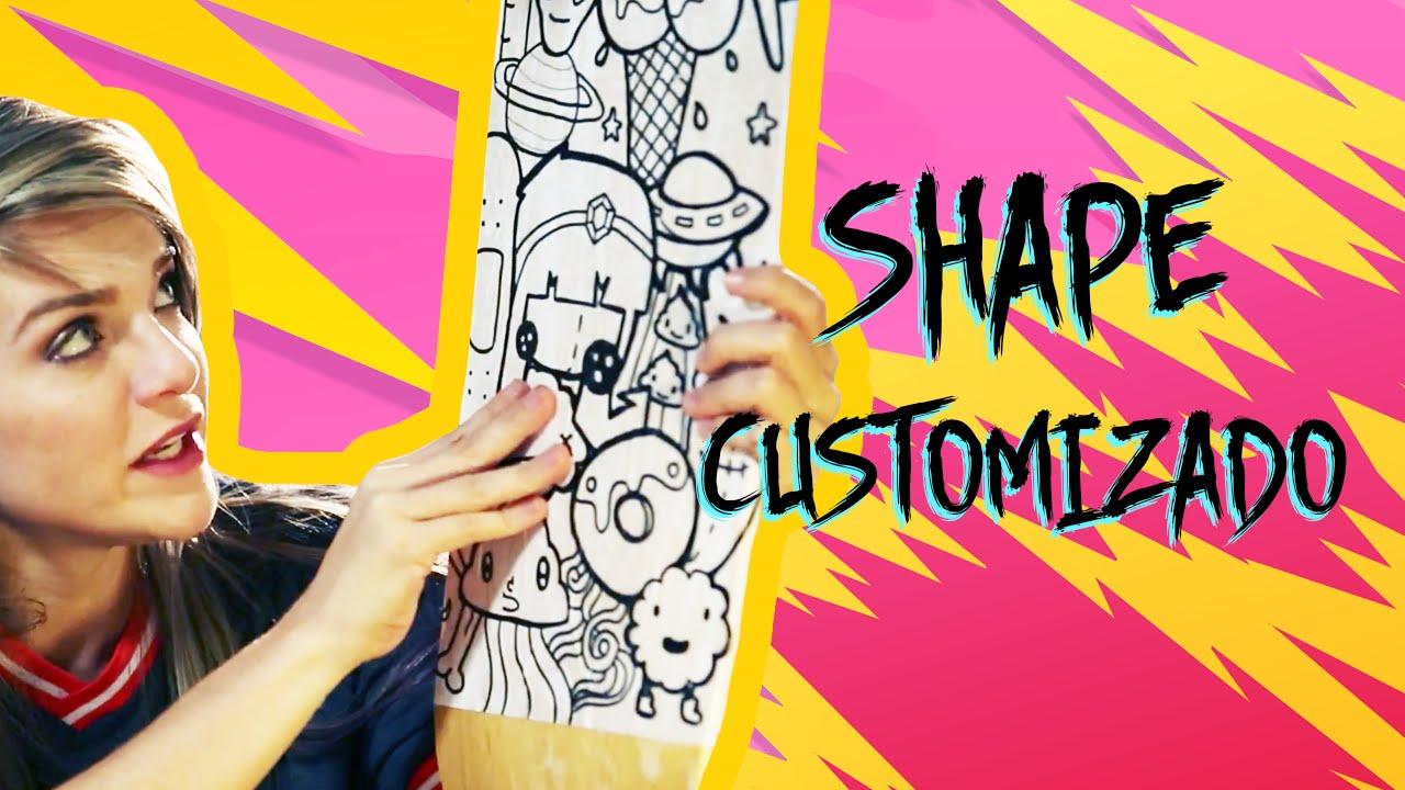 Desenho De Skate Para Imprimir: COMO CUSTOMIZAR SHAPE DE SKATE
