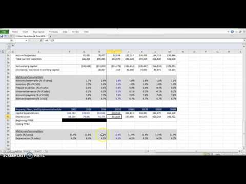 Financial Modeling - Property, Plant, and Equipment model - Step 4