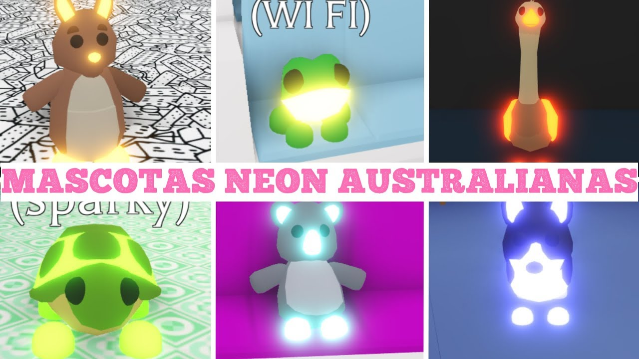 Todas Las Mascotas Neon Australianas Adopt Me Está claro que de ellos es de los que más documentación se tiene. las mascotas neon australianas adopt me