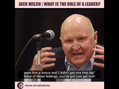 Jack Welch - Mi a vezető szerepe?