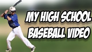 MY HIGH SCHOOL BASEBALL HIGHLIGHTS - RECRUITING TAPE REACTION