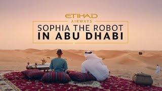 When Sophia the Robot takes her first flight with Etihad Airways, h...
