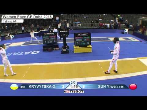 FE W E Individual Doha GP 2015 T64 29 yellow SUN CHN vs KRYVYTSKA  UKR