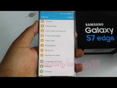 Samsung Galaxy S7 Edge : How to reset network settings - YouTube