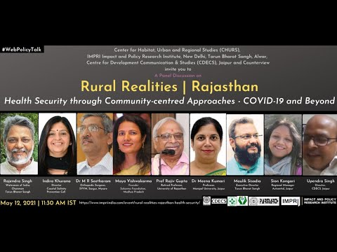 Panel Discussion on Rural Realities   Rajasthan Health Security through Community-centred Approaches