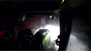 Plowing snow @ 10pm on 3/14/2018 for milk truck