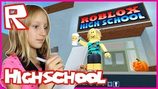 Doing My School Work in Roblox Highschool