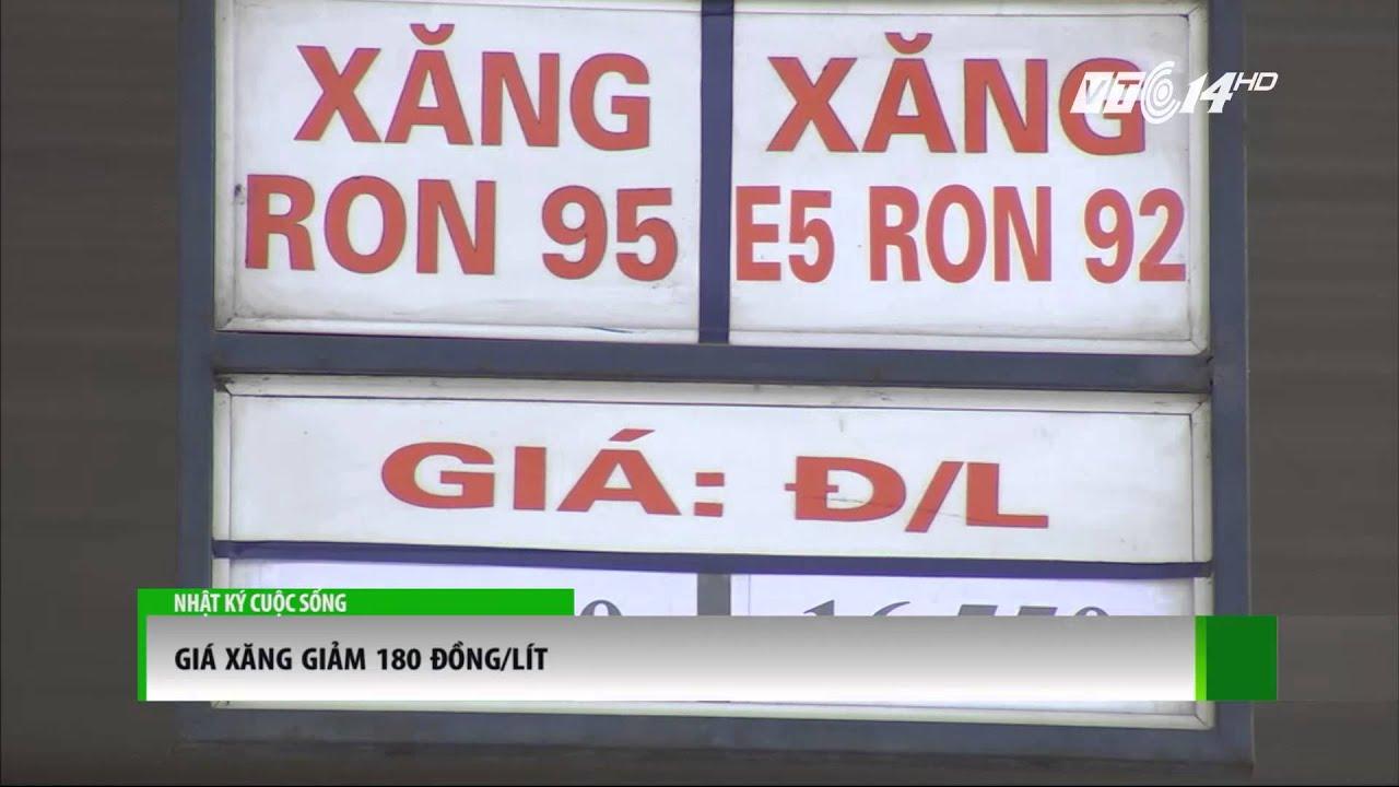 (VTC14)_Giá xăng giảm 180 đồng/lít