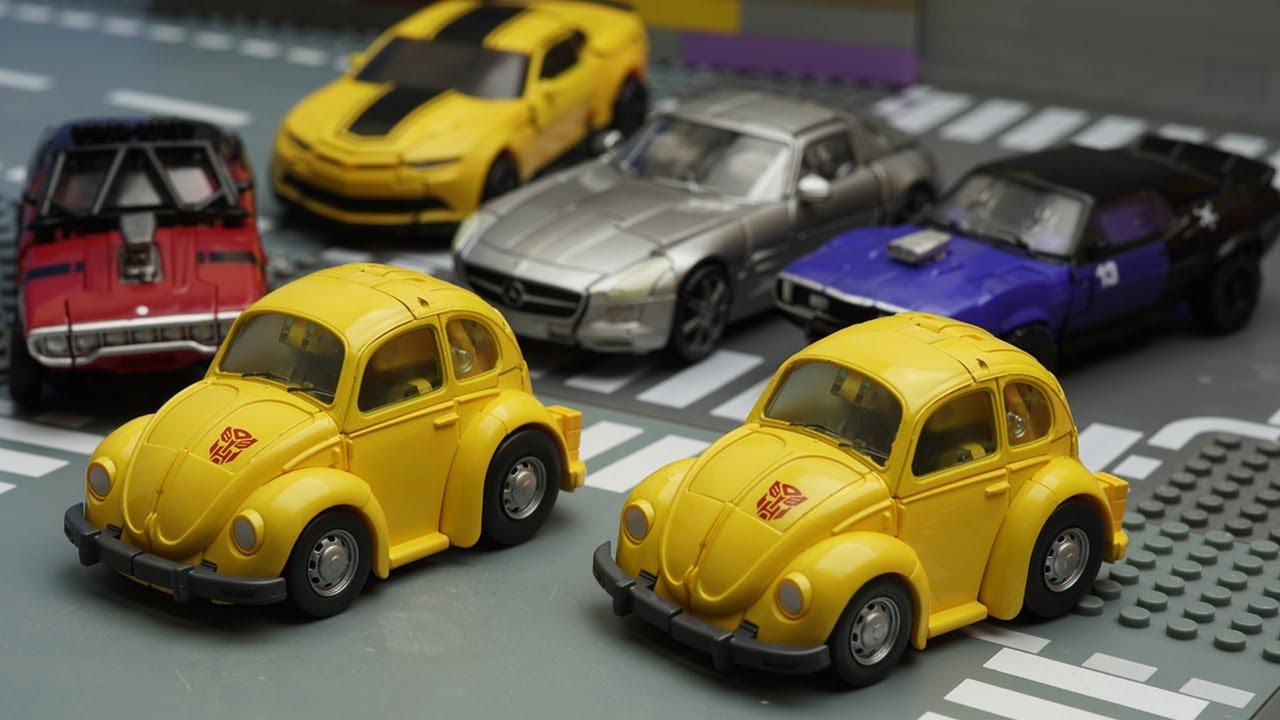 Bumblebee Yellow Car Transformers Stop Motion Dropkick
