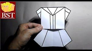 Как сделать школьный костюм для девочки из бумаги А4?