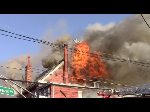 Whippany Fire Department 3rd Alarm Structure Fire Billy's Red Room 11-27-17