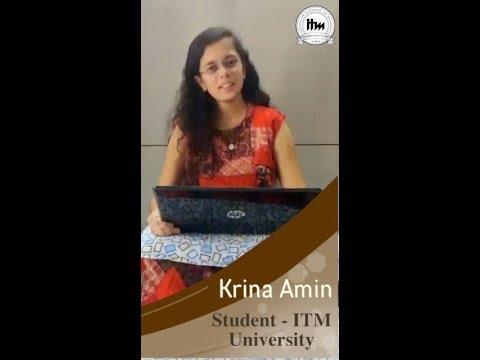 ITM Vocational University | Vadodara | Krina Amin | In Gujarati