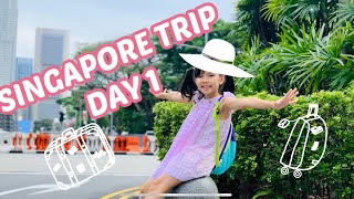 Du lịch Singapore tự túc | Ngày 1 | MRT | Merlion | Marina Bay sands | Nhạc nước Light Water show