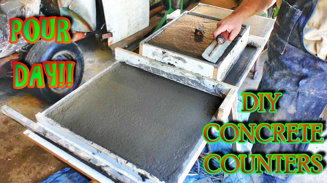 How To Mix Pour And Finish Your Own Counters Complete Guide Diy Concrete Countertops