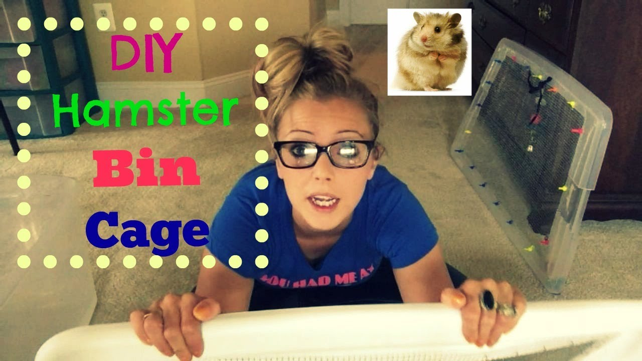 Diy how i made my hamster bin cages youtube for How to build a hamster cage