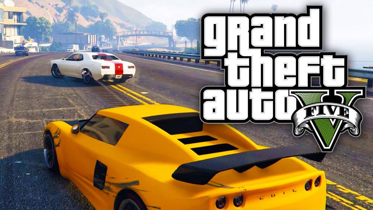 Gta Online Stolen Cars Street Races Gta V Online Youtube