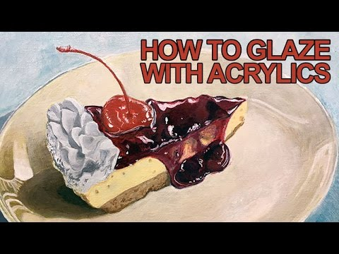 Painting Lesson  How to Glaze With Acrylics  YouTube