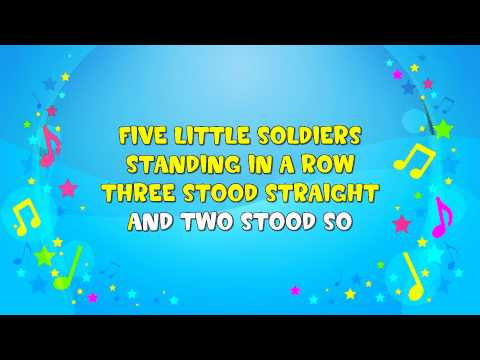 Five Little Soldiers Sing A Long