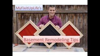 Basement Remodeling Tips: Moisture, Framing, Insulation, Sound, More