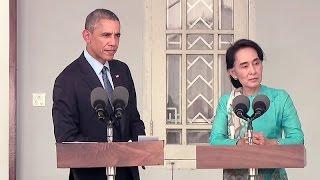 President Obama and Ang San Suu Kyi Hold a Press Conference
