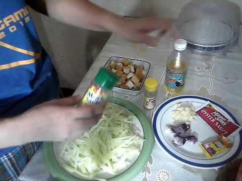 HOW TO COOK SAYOTE SAUTE ( PEAR SQUASH) IN OYSTER SAUCE VLOG # 82