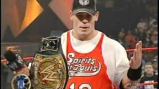 WWE John Cena Debuts on Monday Night Raw 6-06-2005 Part 1