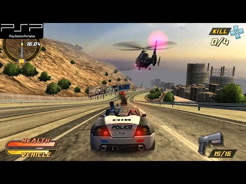 Pursuit Force: Extreme Justice - PSP Gameplay 4k 2160p (PPSSPP)