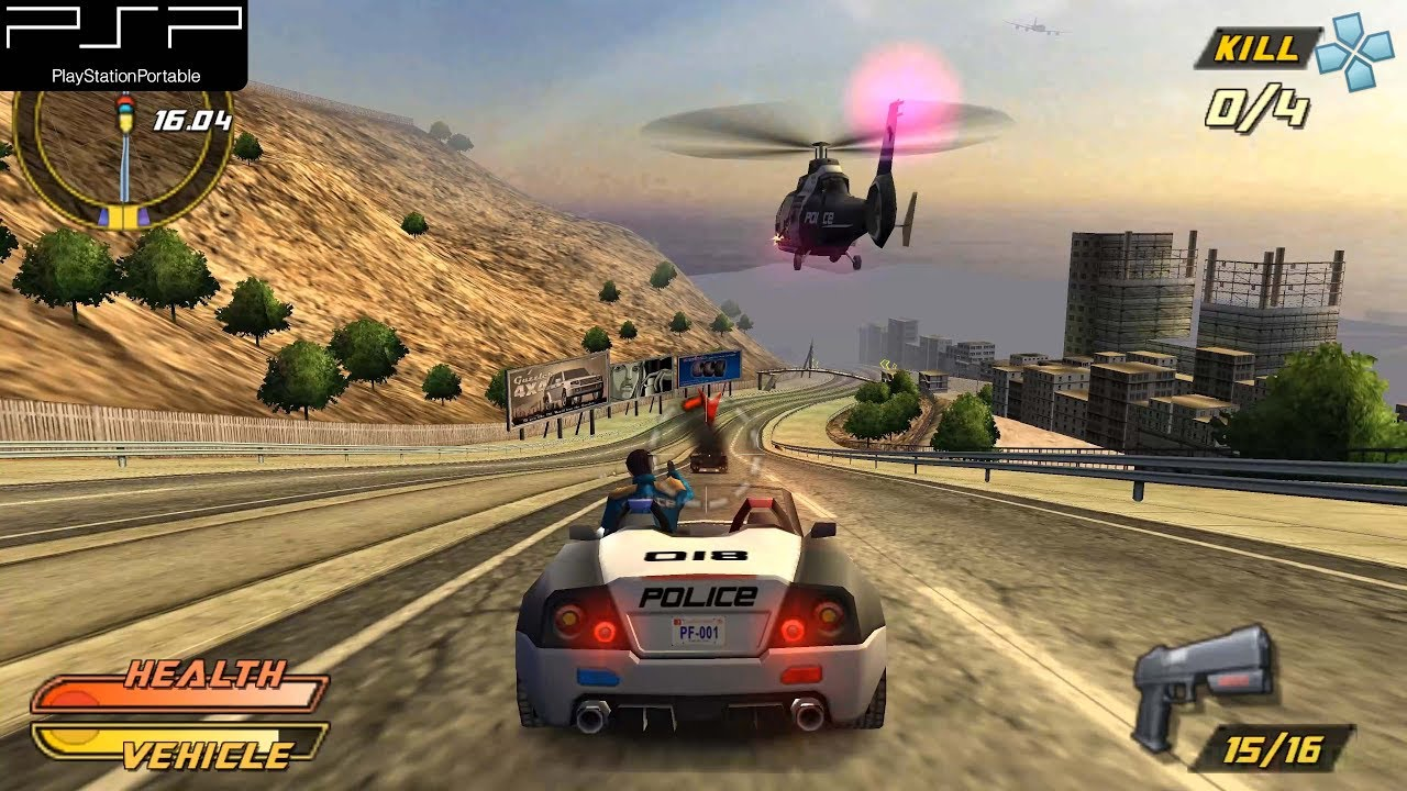 Pursuit Force: Extreme Justice – PSP Gameplay 4k 2160p (PPSSPP)