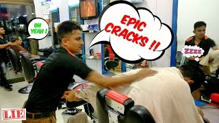 The Great Indian Head Massage (4K)  Original Uncut | ALL CRACKS | ASMR Indian Barber Massage |