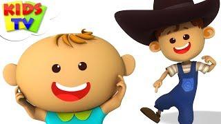 Head Shoulders Knees And Toes | Little Eddie Cartoons | Kindergarten Nursery Rhymes by Kids Tv