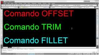 Autocad-Comandos OFFSET, TRIM Y FILLET
