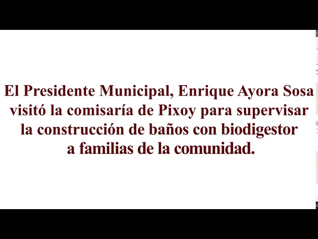 Construyen baños Biodigestores en comisaría de Pixoy Yucatán