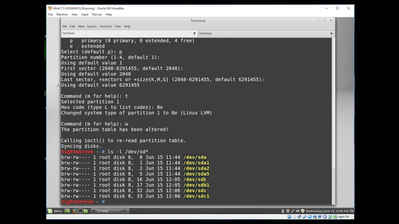 (HOW-TO) Add disks in VirtualBox and extend disk space using LVM for Linux  guests
