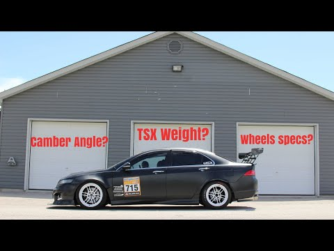 Track TSX Weight/Alignment/Wheel Specs