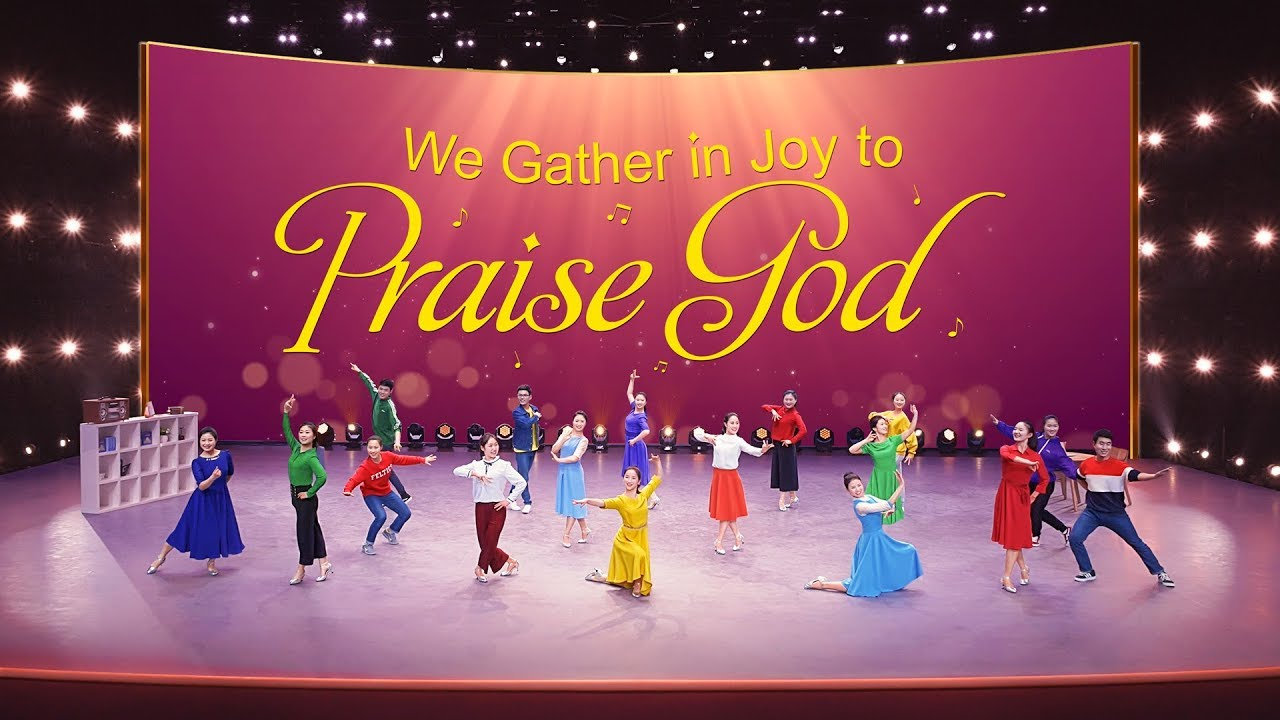 """Download Hindi Christian Song """"We Gather in Joy to Praise God""""   Glory to God Forever   Indian Dance"""