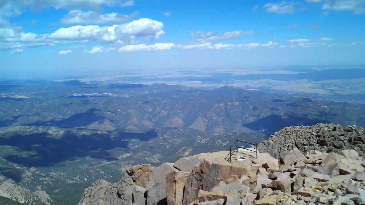 View from top of Pikes Peak - YouTube